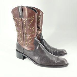 Stuart Weitzman leather western style boots